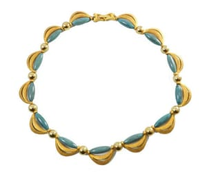 blue, fashion, and vintage necklace image