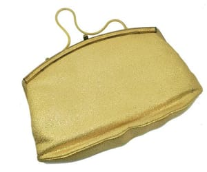 1960s, gold, and formal evening bag image
