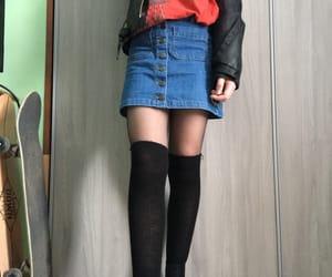 black, blue, and clothing image