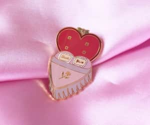 bed, pink, and pins image