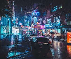 city, lights, and seoul image