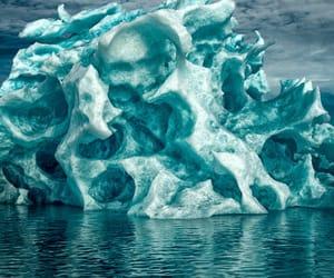 greenland, ice, and glacier image