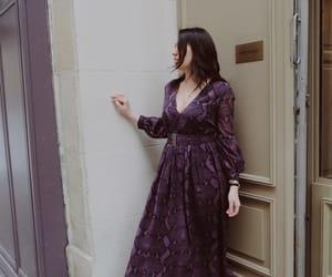 long dress, maxi dress, and paris image