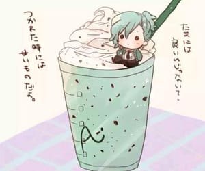 chibi, drink, and mikaze ai image