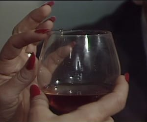 wine, nails, and red image