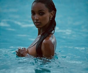 jasmine tookes, model, and beach image
