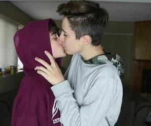 gay, gay kiss, and gay couple image