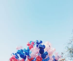balloons, colorful, and disneyland image
