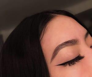 cat eye, eyeliner, and makeup image