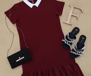 clothes, maroon, and dress image