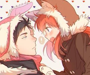 anime, couple, and gekkan shoujo nozaki-kun image