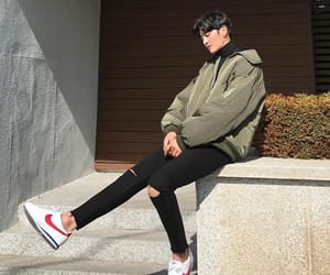 asian fashion, casual, and handsome image