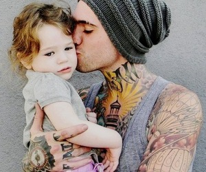 tattoo, baby, and guy image