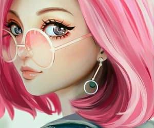 pink, anime, and art image