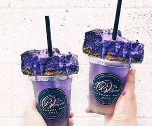 dessert, food, and purple image