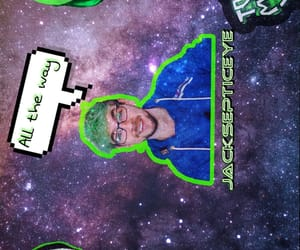 galaxy, green, and youtube image