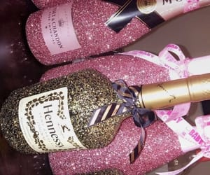 drink, glitter, and party image