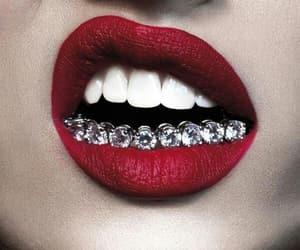 beautiful, diamonds, and red image