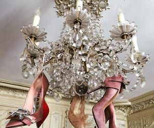 fashion, shoes, and chandelier image