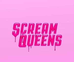 scream queens, pink, and wallpaper image