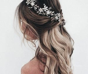 girl fashion style, hair hairstyles, and ponytails updos image