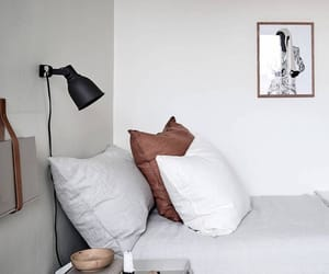 bed, danish, and decor image