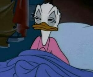 bed, donald, and mickey image