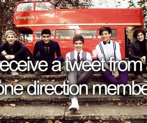 one direction, tweet, and before i die image