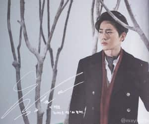 kim junmyeon, black hair, and exo image