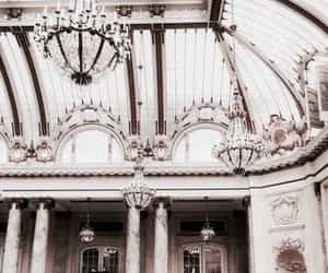 architecture, chandelier, and aesthetic image