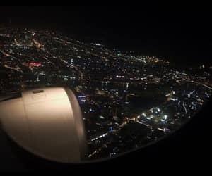 night, city, and travel image