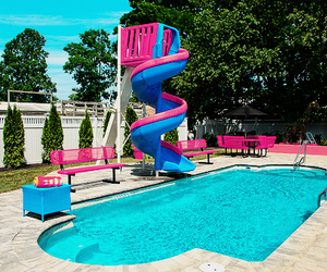pool, summer, and photography image