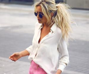 girl, fashion, and pink image