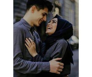 heart, محجبات, and love image