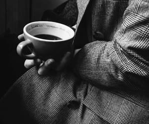 coffee and black and white image