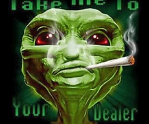 420, aliens, and cannabis image