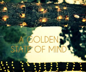 aesthetic, fairylights, and gold image