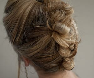 blonde, buns, and hairstyle image