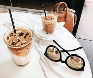 coffee, sunglasses, and bag image