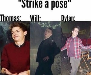 dylan o'brien, thomas, and funny image