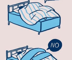 bed, funny, and sleep image