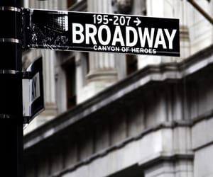 broadway, black and white, and street image