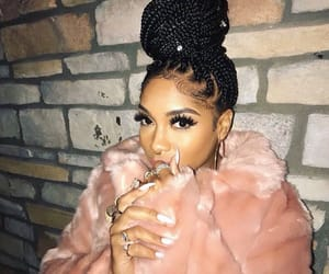 black girl, pink, and melanin image