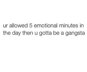 emotional, gangsta, and quotes image