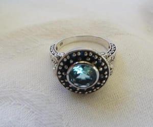 etsy, aquamarine ring, and vintage aquamarine image