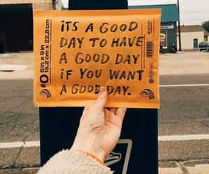 quotes, yellow, and good day image