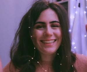 fairy lights, smile, and girl image