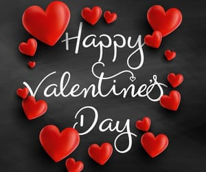 february, heart, and love image