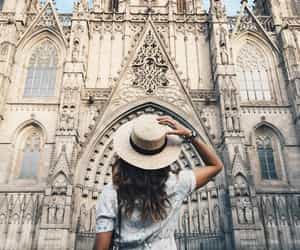 travel, girl, and hat image