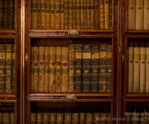 antique, book case, and library image